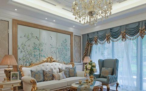 紫金伴山欧式风格四室两厅装修效果图