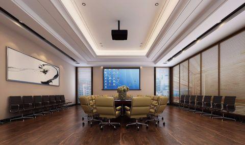 赣西石城物流园3120平方企业公司装修效果图