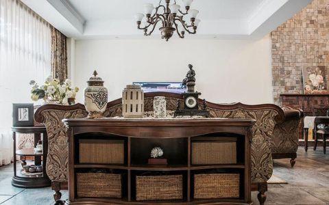 客厅博古架美式风格装潢图片