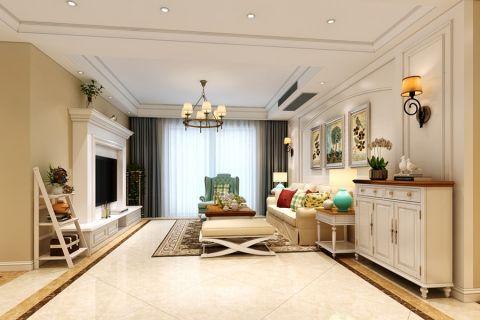 信达天御100平方三居室简约美式风格装修效果图