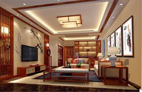 花香十二院120平方新中式风格套房装修效果图