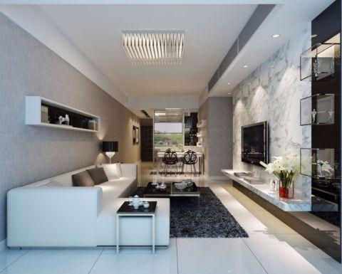 天利中央100平方现代风格套房装修效果图