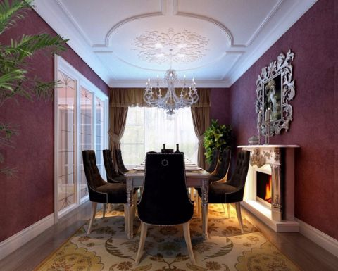 餐厅吊顶欧式风格装修设计图片