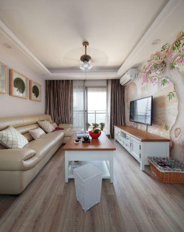 混搭风格70平米公寓新房装修效果图