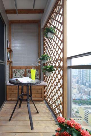 阳台细节混搭风格装修效果图