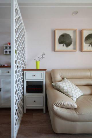 客厅隔断混搭风格装修图片