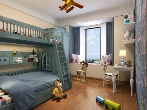 儿童房飘窗混搭风格装饰效果图