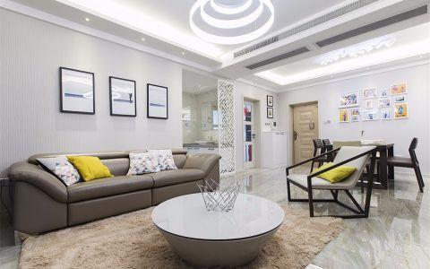 红谷春天120平3室2厅现代简约风格效果图