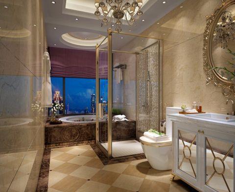 卫生间隐形门欧式风格装饰效果图