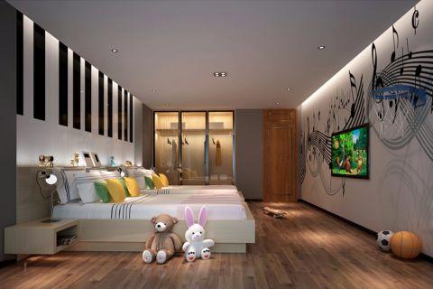 儿童房照片墙北欧风格装潢效果图