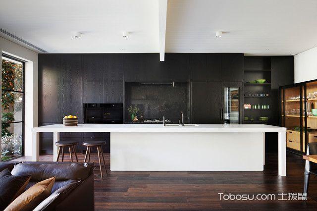 厨房白色吧台简欧风格装潢图片