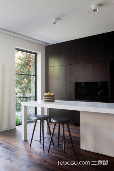 厨房彩色吧台简欧风格装修效果图