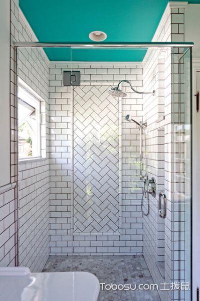 卫生间白色隔断简欧风格装饰图片