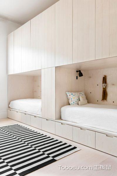 卧室米色榻榻米现代风格装饰图片