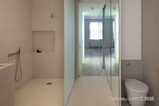 卫生间 隔断_格调现代风格浴室装修效果图_土拨鼠2017装修图片大全