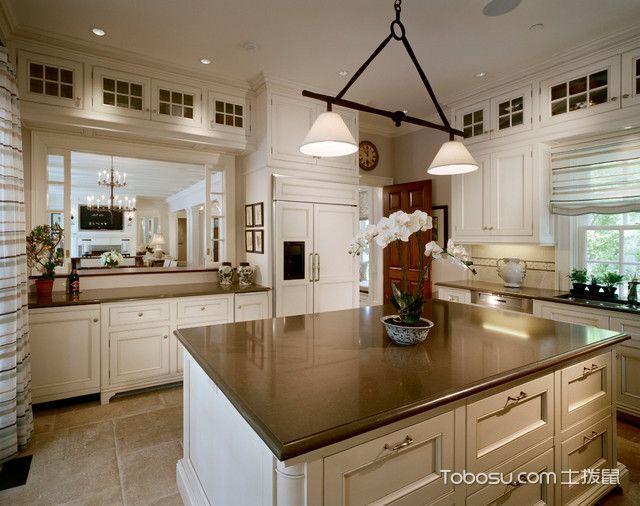 厨房白色隔断美式风格装饰效果图