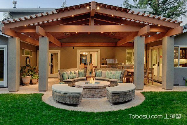 温馨舒适美式风格阳台装修效果图