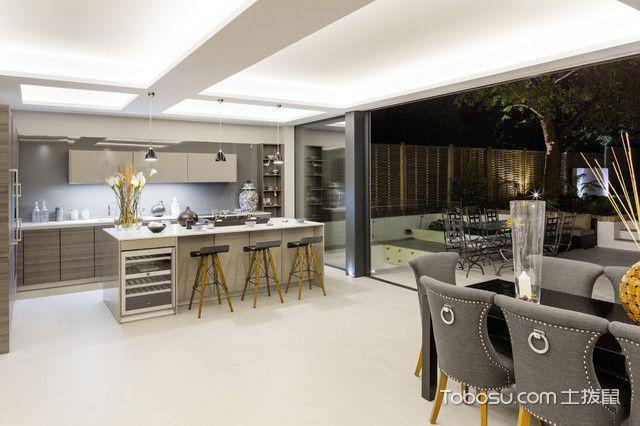 厨房灰色隔断美式风格装饰效果图
