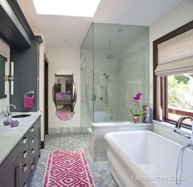 卫生间白色细节混搭风格装修设计图片