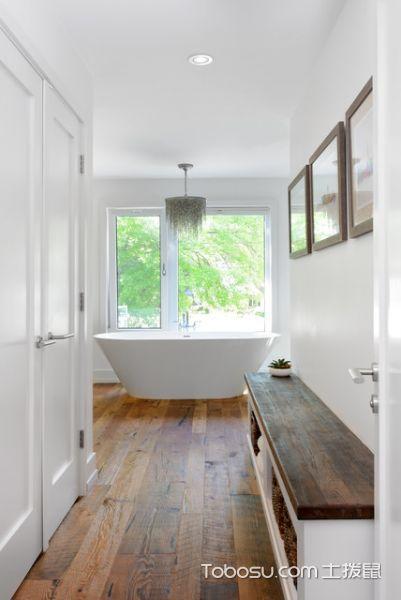 浴室白色浴缸现代风格效果图