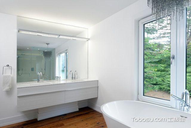 浴室白色浴缸现代风格装修效果图