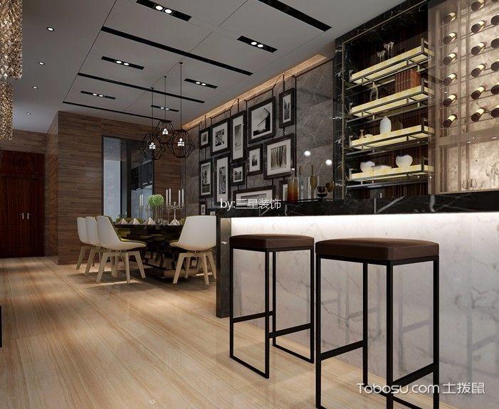 现代风格200平米复式新房装修效果图