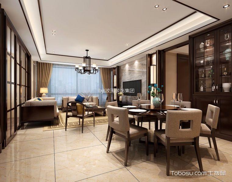 徐州雍福上城106平米新中式风格效果图