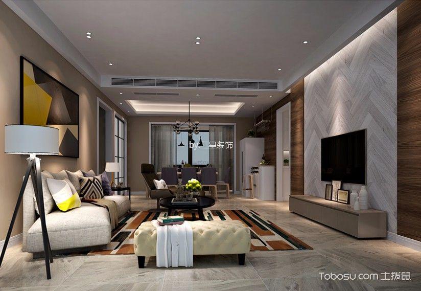 悦盈新城120平现代简约风格三居室装修效果图