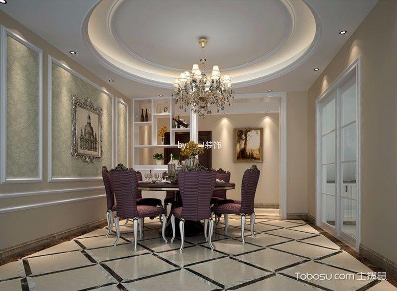雅居乐剑桥郡150方欧式三居室装修效果图