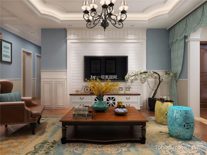 绿都褐石街区120平三居室简美装修风格效果图