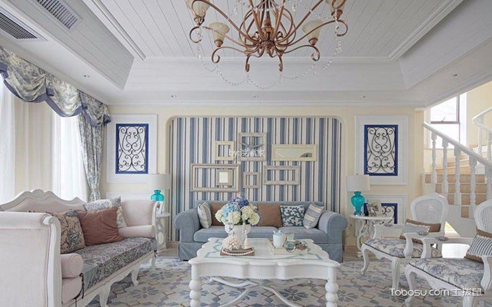 地中海风格188平米复式新房装修效果图