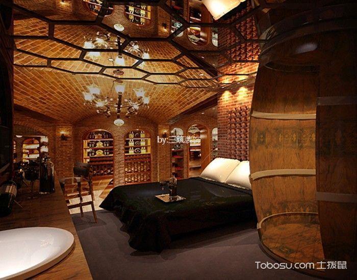 蜜桃湾主题酒店标准房咖啡色吊顶装修图片