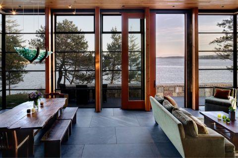 客厅推拉门现代风格装潢图片