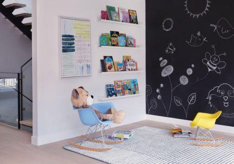 儿童房背景墙现代风格装修效果图
