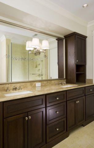 卫生间细节美式风格装潢设计图片