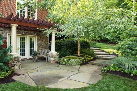 花园外墙美式风格装潢设计图片