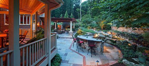 花园细节美式风格效果图