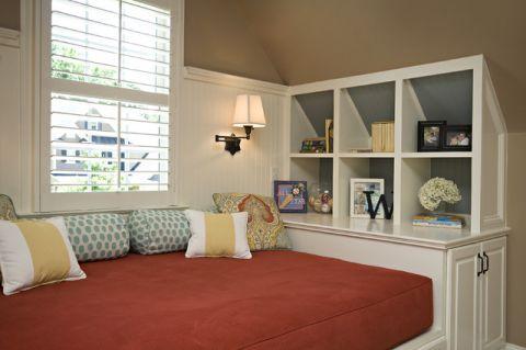 儿童房窗台美式风格装潢设计图片