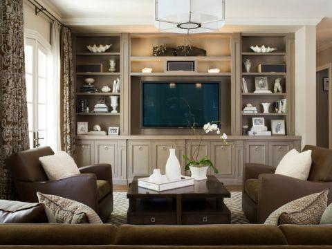奢华美式风格客厅装修效果图_土拨鼠2017装修图片大全