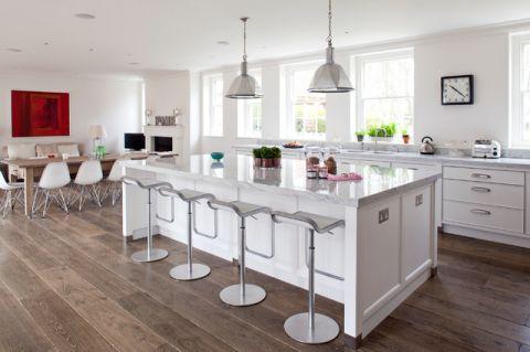 简约美式风格厨房装修效果图_土拨鼠2017装修图片大全