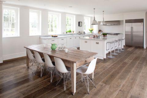 厨房咖啡色吧台美式风格装修设计图片