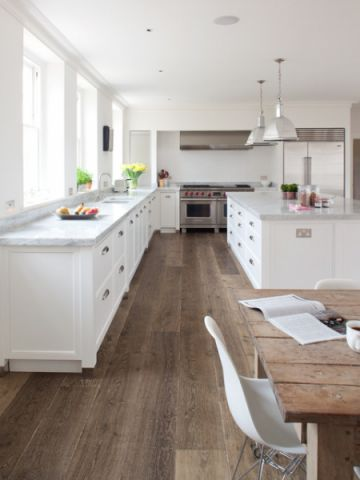 厨房白色橱柜美式风格装饰设计图片