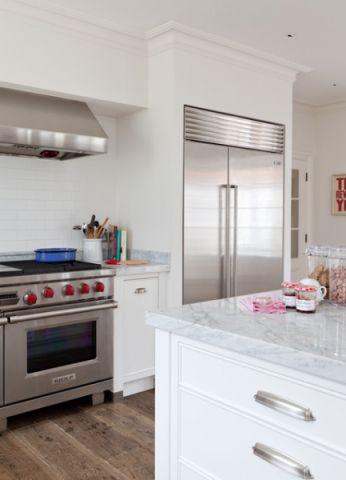 厨房白色细节美式风格装潢设计图片