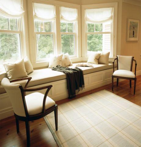 客厅窗台美式风格装潢图片