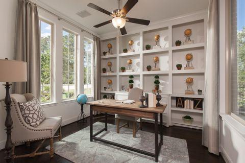 书房细节美式风格装潢设计图片