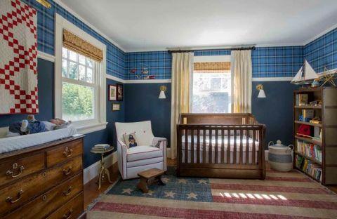 儿童房背景墙简欧风格装潢效果图