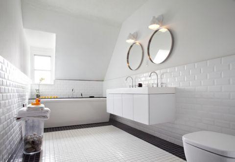 卫生间背景墙简欧风格装潢效果图