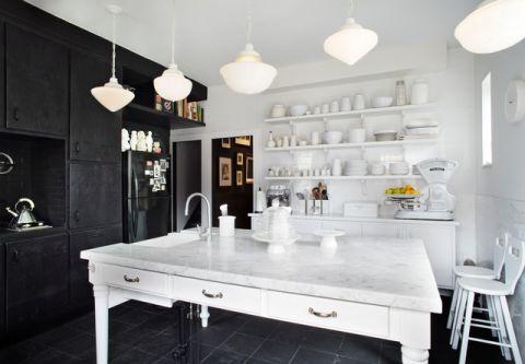 厨房背景墙简欧风格装修图片