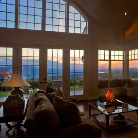 客厅窗台简欧风格装潢图片