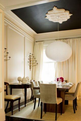 餐厅吊顶简欧风格装饰效果图